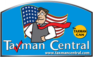 Taxman Central Sign