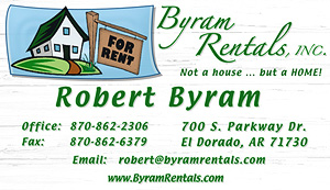 Byram Rentals Business Card