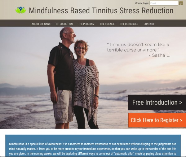 Mindfulness Based Tinnitus Stress Reduction